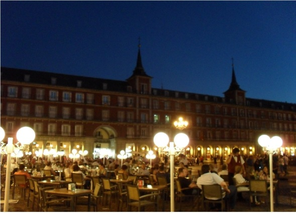 Plaza Mayor di sera